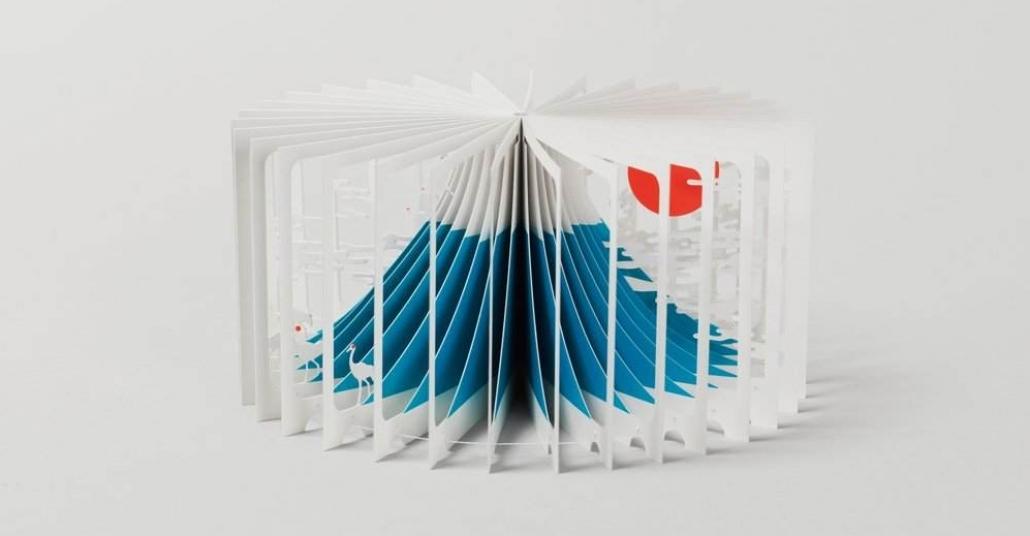 360 Derece Açılınca Fuji Dağı'na Dönüşen Kitap
