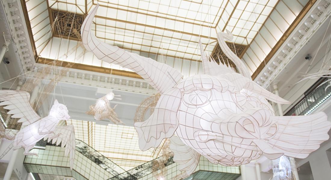 Ai Weiwei'nin Kağıt Ve Bambudan Yaptığı Mitolojik Yaratıkları