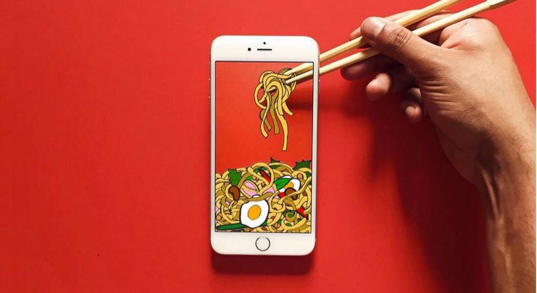 iPhone Ekranında Kağıtla Yaratılan Eğlenceli İllüstrasyonlar