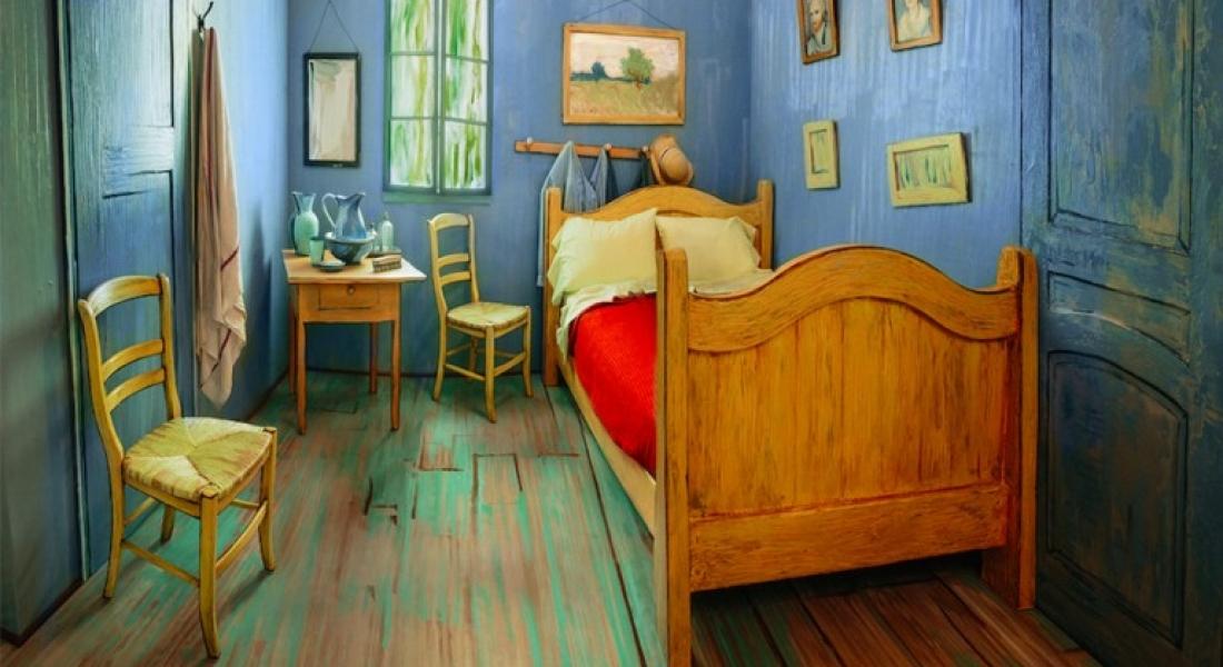 """Van Gogh'un """"Yatak Odası""""nda Bir Gece"""