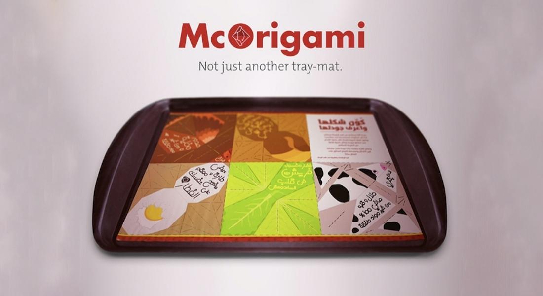 McDonald's'tan Origamiye Dönüşen Kağıt Tepsiler