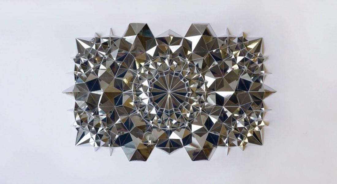 Geometrik Formlarda Kağıt Heykeller