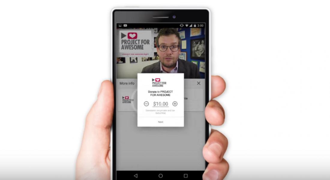 Youtube Ekranında Bağış Kartları