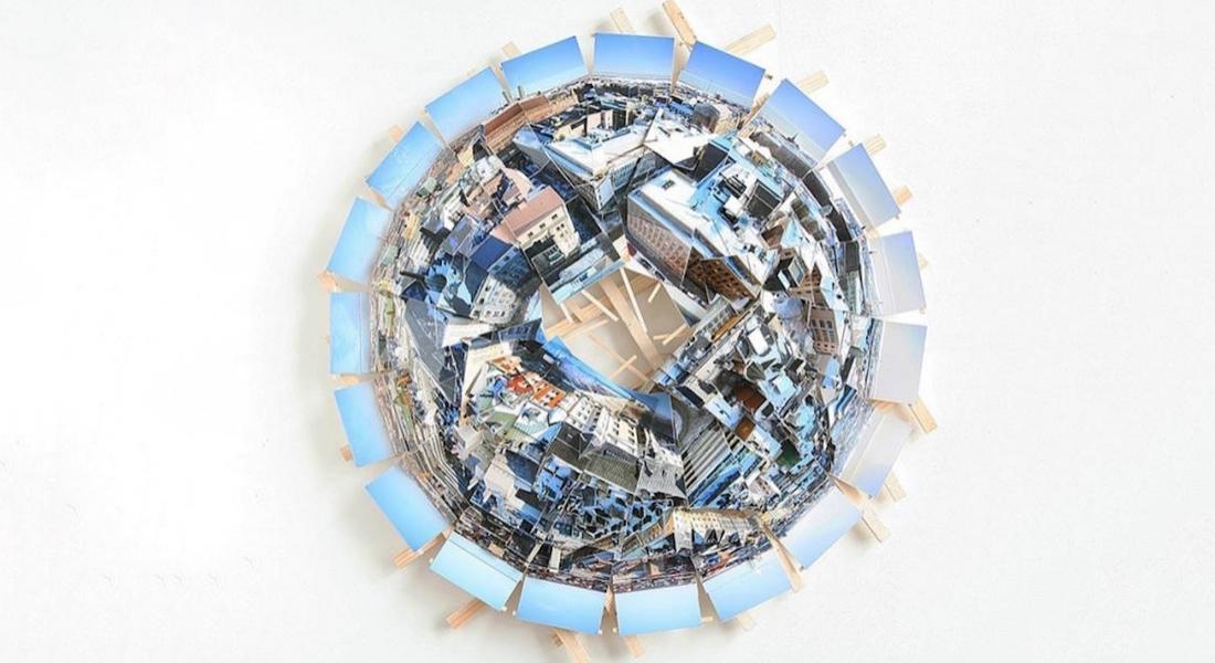 Yapboz Gibi Fotoğraflarla 360 Derece Şehir Manzaraları