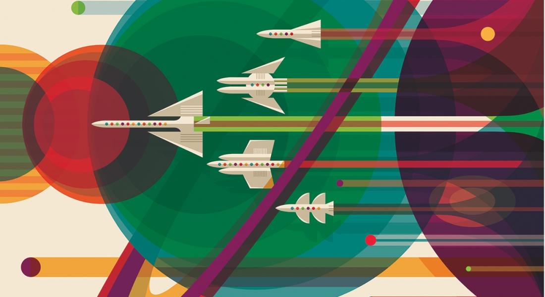 NASA'dan Vintage Seyahat Posterleri