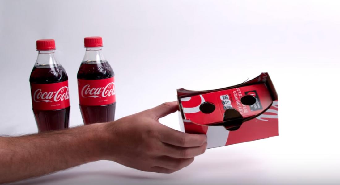 Sanal Gerçeklik Gözlüklerine Dönüşen Coca-Cola Ambalajları