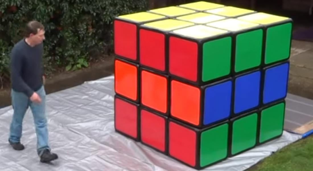 Dünyanın En Büyük Rubik Küpü İle Tanışın