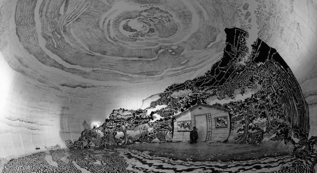 Şişme Bir Kubbe İçine Çizilen 360 Derecelik Mural