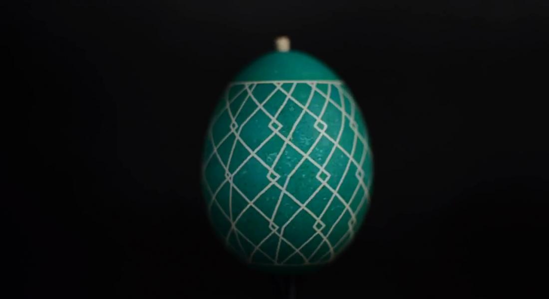 Geometrik Şekillerle Hareketlenen Paskalya Yumurtaları