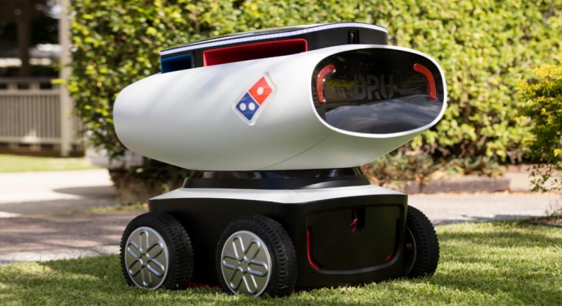 Dünyanın İlk Otonom Pizza Kuryesi