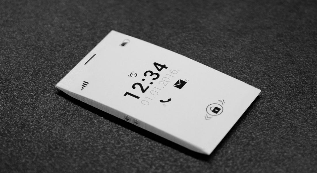 Kredi Kartı İnceliğinde Minimalist Telefon