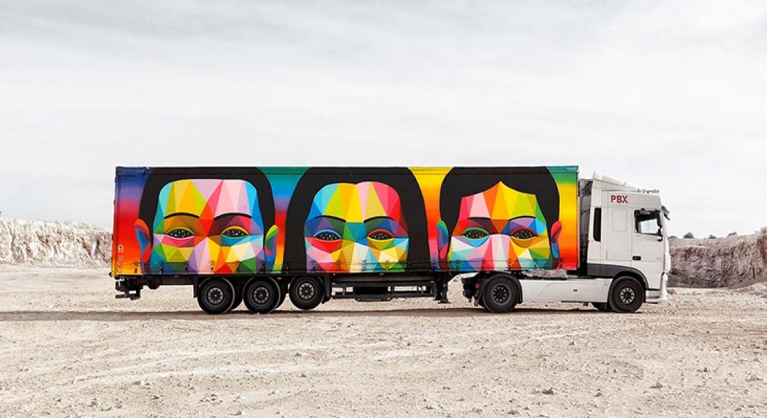 İspanya'nın Kamyon Sanat Projesi Otobanlara Renk Getiriyor