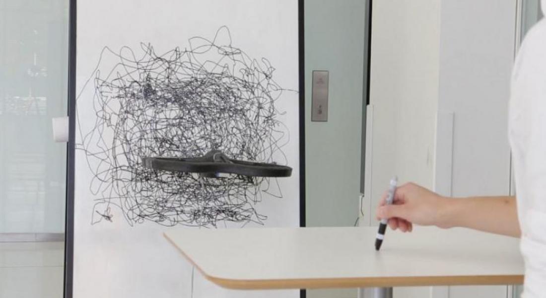 Çizimleri Tuvale Eş Zamanlı Kopyalayan Drone'lar