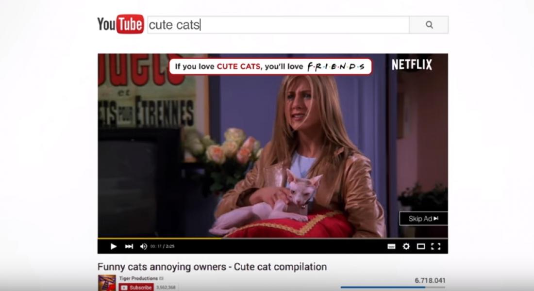 Netflix, YouTube Etiketlerine Göre Friends'den Sahneler Gösteriyor