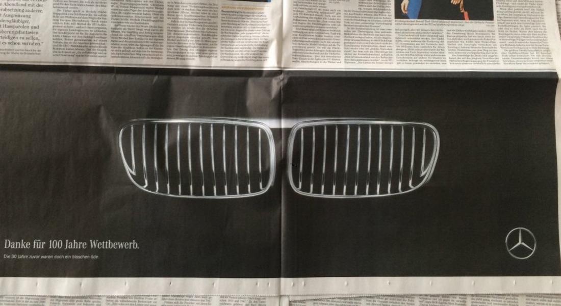 Mercedes-Benz'den 100 Yıllık Rekabet için BMW'ye Teşekkür İlanı