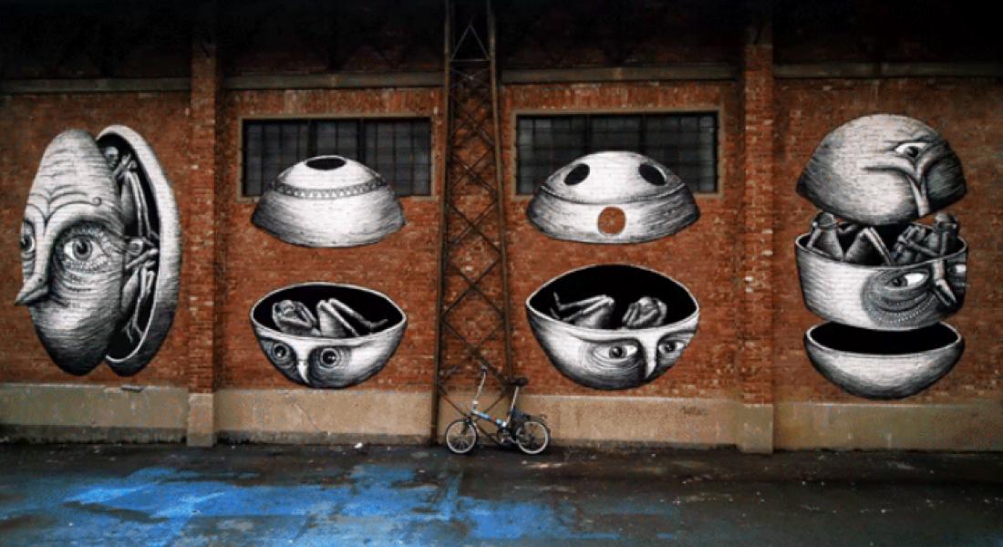 Sokak Sanatı Eserleri GIF'ler Sayesinde Harekete Geçti