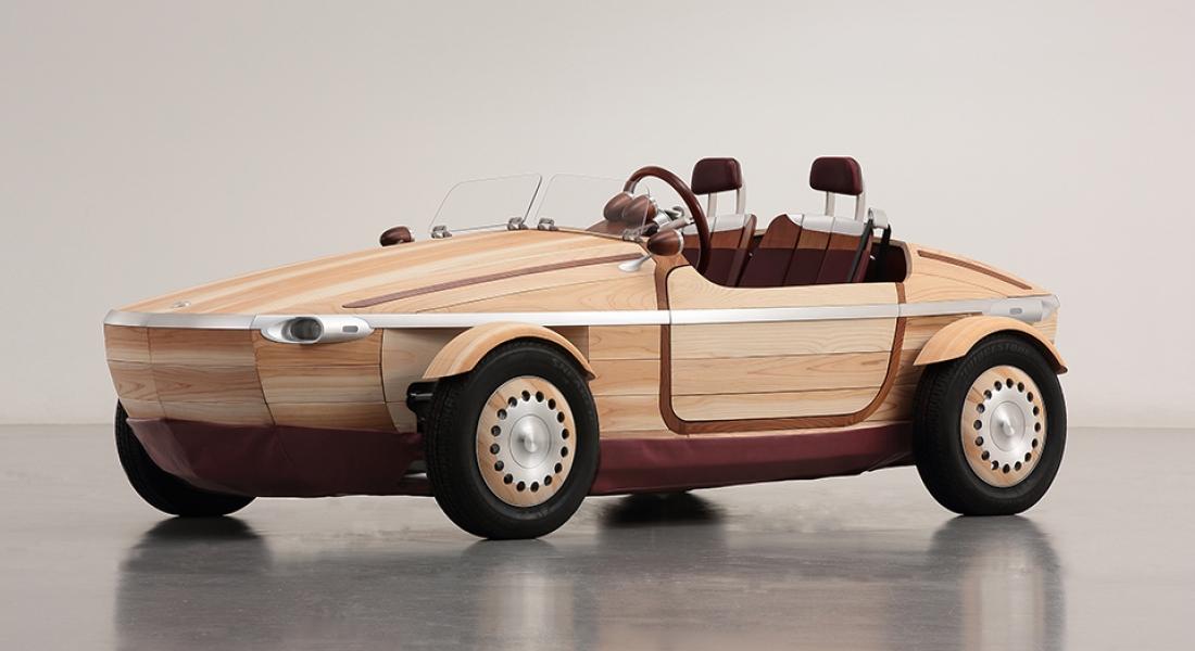 Toyota'dan Ahşap Kullanılarak Üretilen Konsept Bir Araç Tasarımı