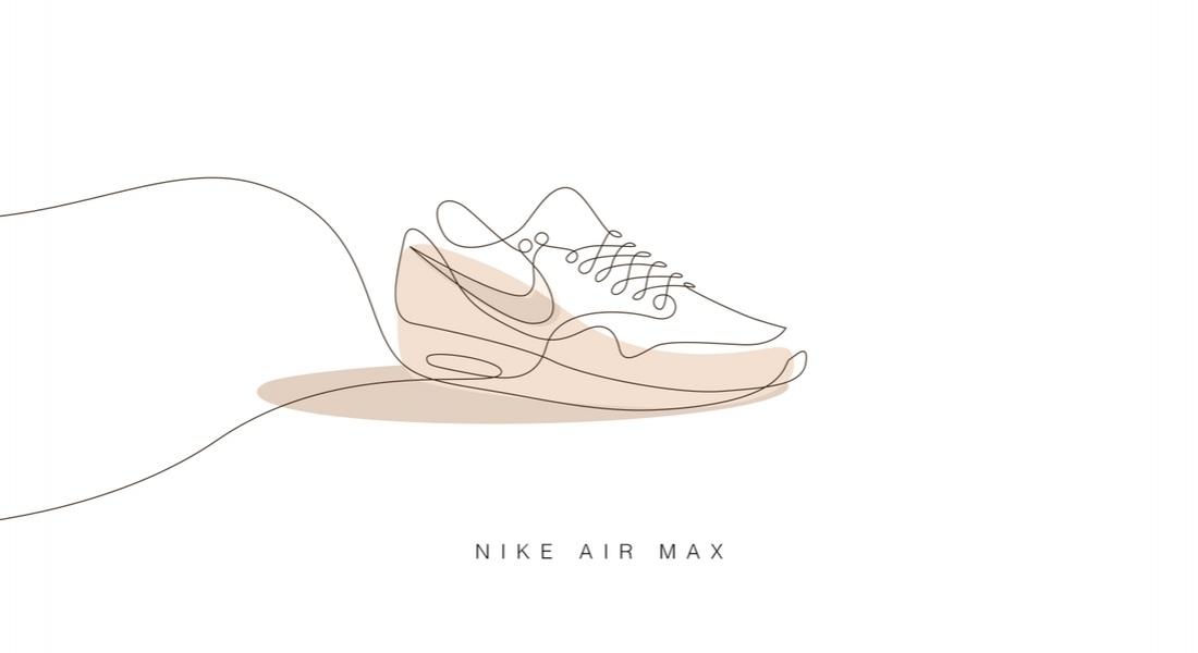Tek Çizgiyle Çizilen Klasik Spor Ayakkabılar