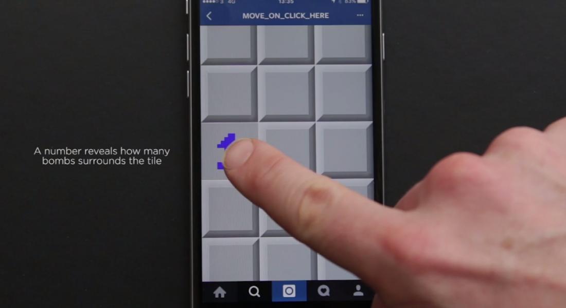 Mayın Tarlası Oyunu Instagram'a Taşındı