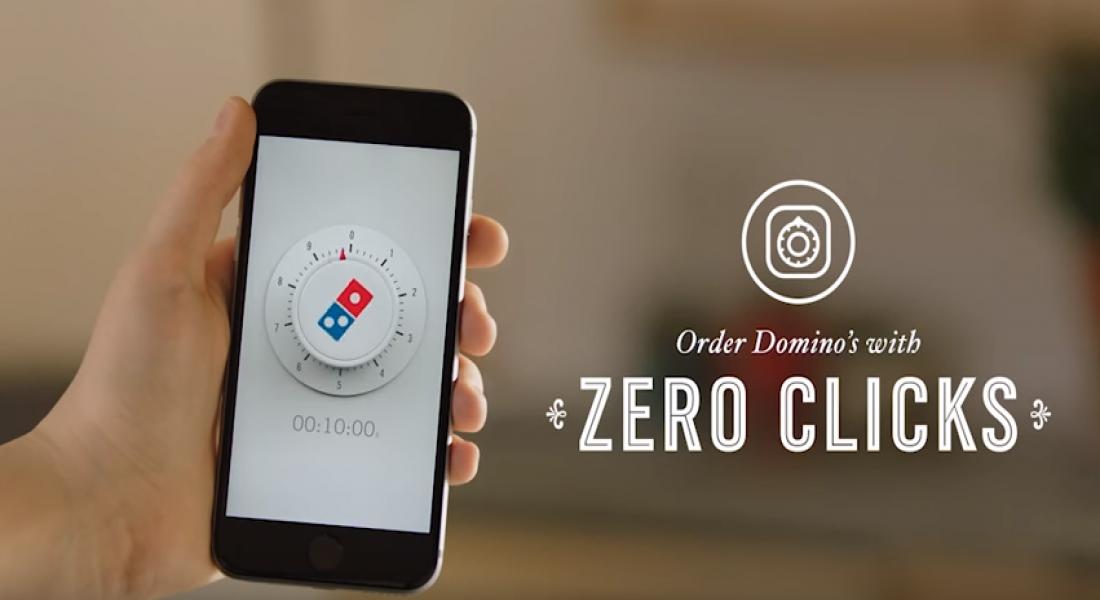 Domino's Pizza'dan Sıfır Tıklamayla Sipariş Özelliği