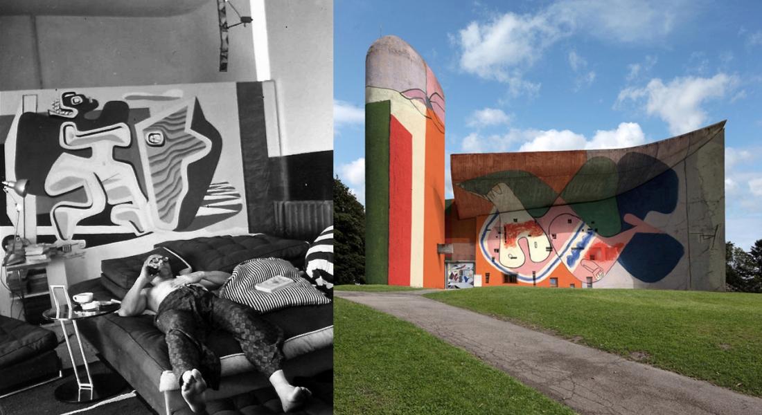 Le Corbusier'nin Mural Çalışmaları İkonik Mimari Yapısıyla Buluşuyor