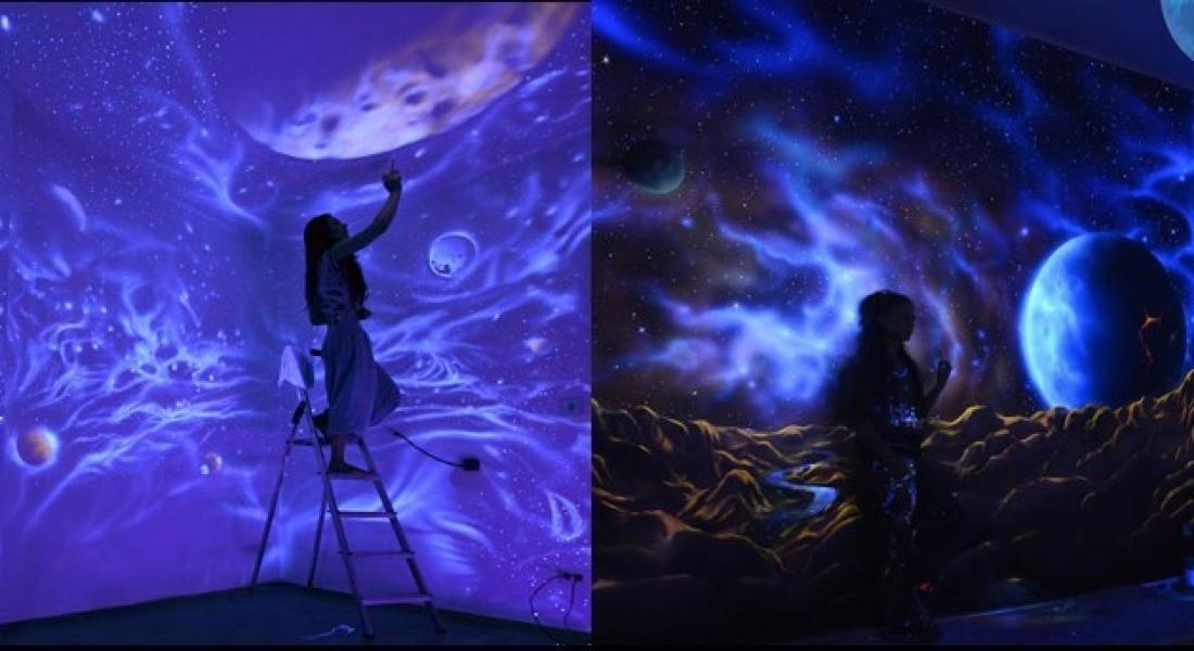 Morötesi Işık Altında Rüyalar Ülkesine Dönüşen Murallar
