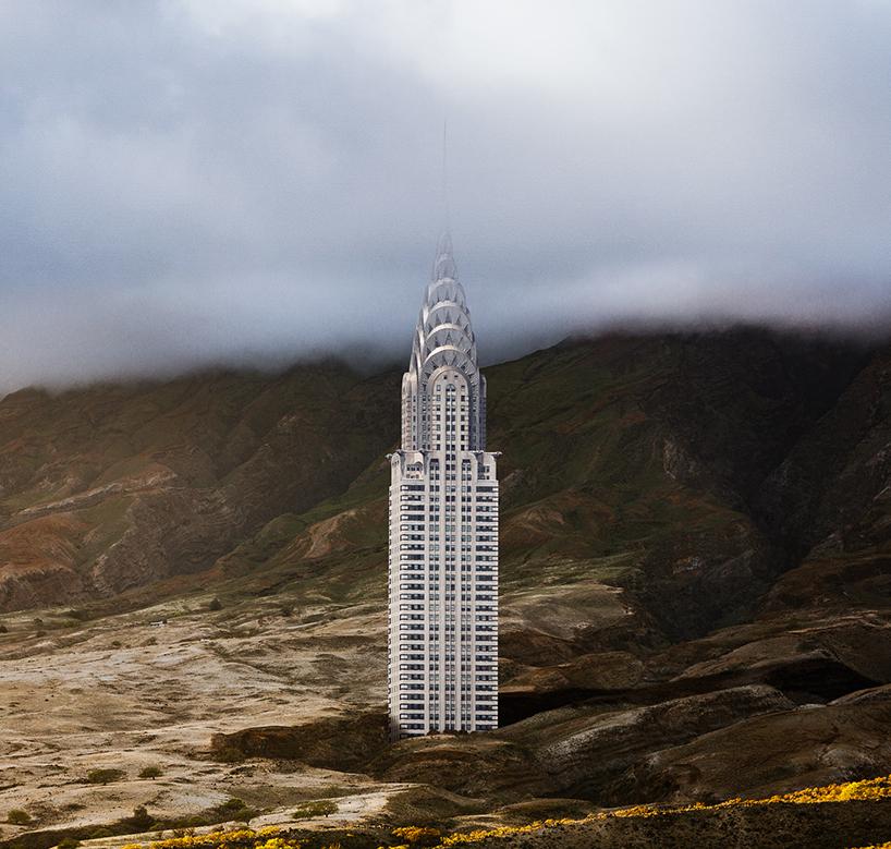 Chrysler Binası bir dağın eteklerinde