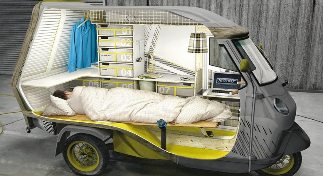 Bufalino: Kamp Çadırına Dönüşen Konsept Scooter