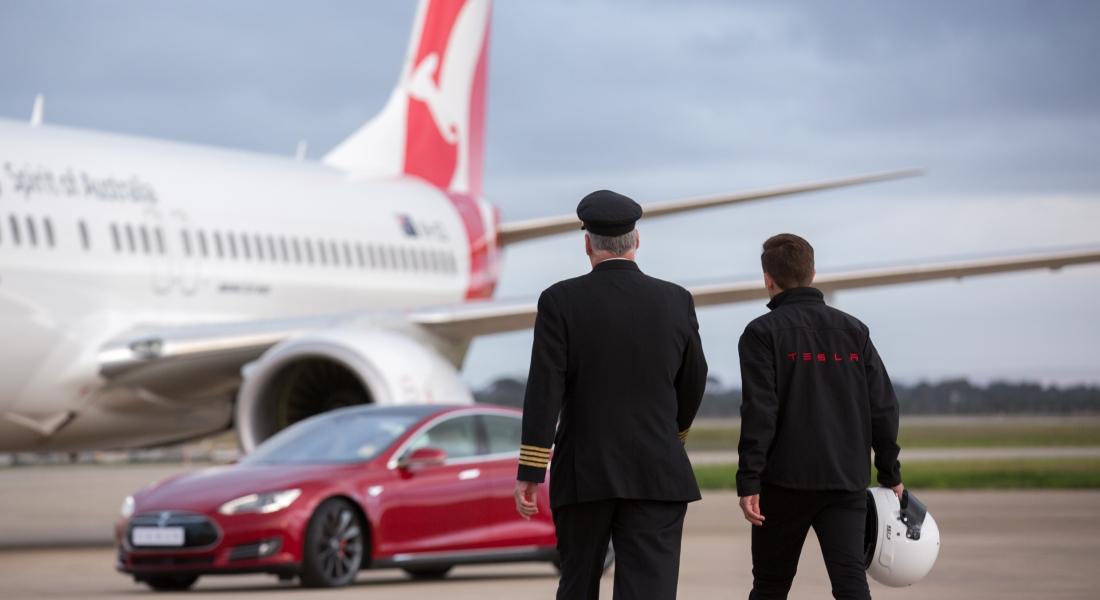 Tesla ve Qantas Güçlerini Birleştiriyor