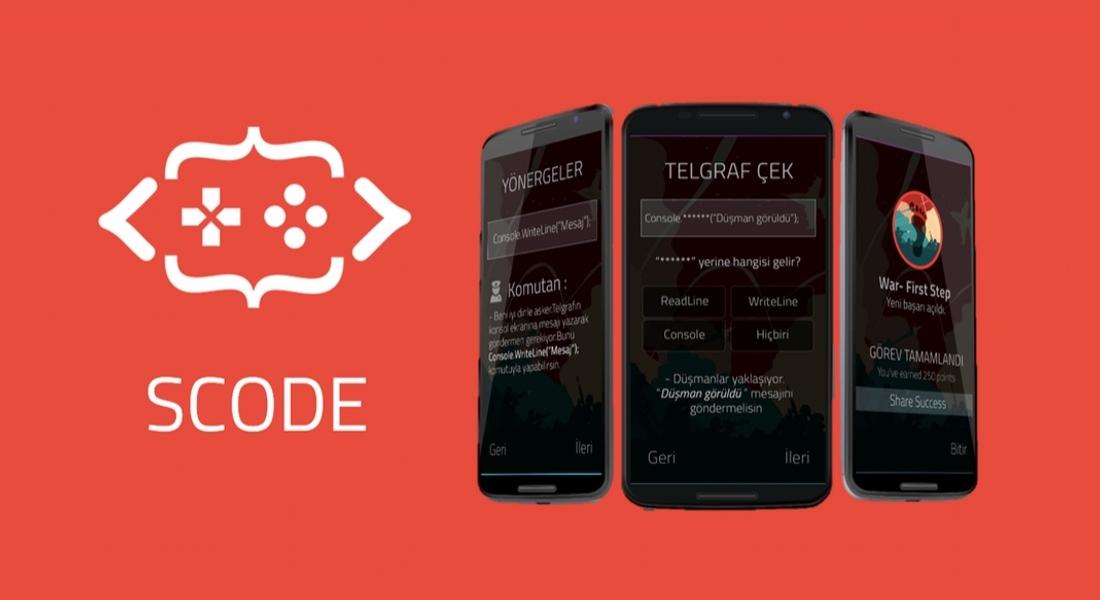 Lise Öğrencilerinden Oyunlarla Kod Bilgisi Öğreten Mobil Uygulama: Scode