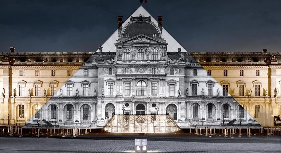 JR, Louvre'un Simgesi Cam Piramidi Kaybetti