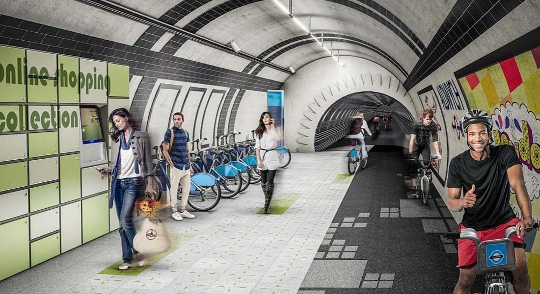 Londra'daki Terk Edilmiş Metro Tünelleri Bisikletlilere Ve Yayalara Açacak Proje