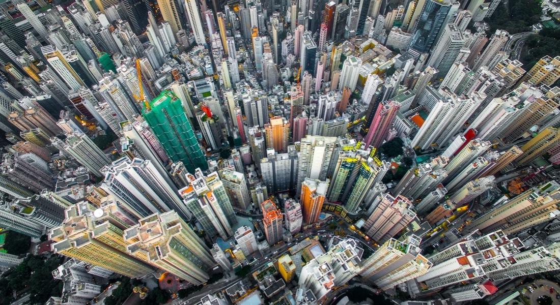 Kuş Bakışı Hong Kong Manzarası