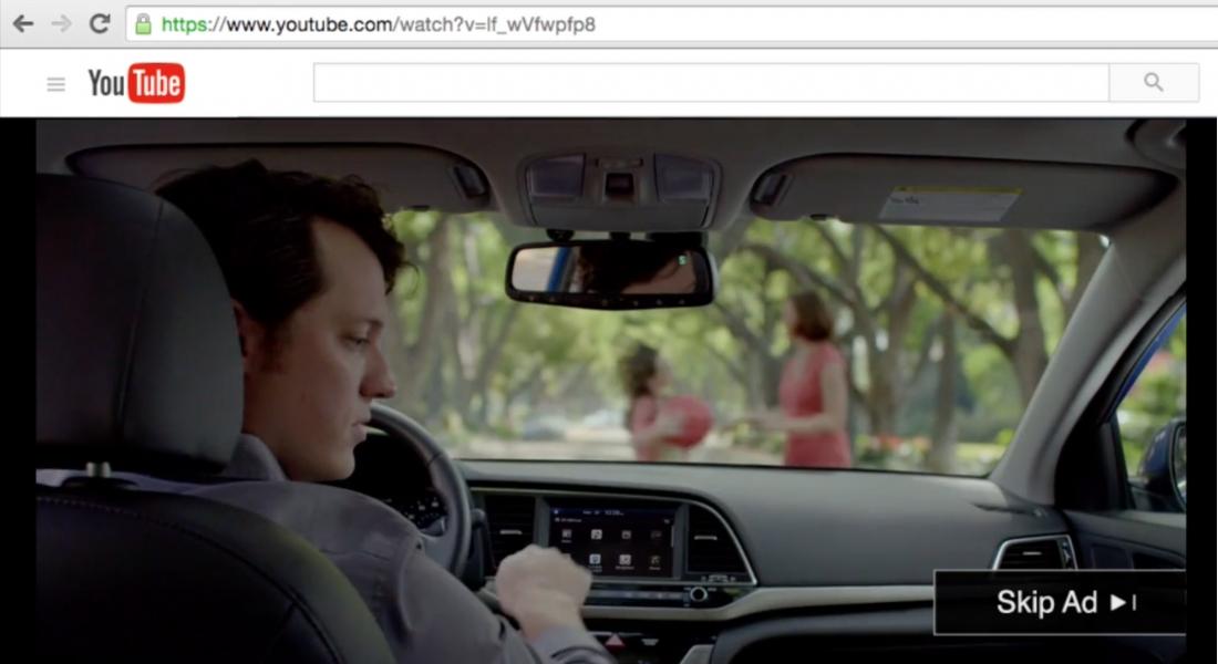 Hyundai Otomatik Fren Özelliğini YouTube Reklamlarıyla Anlatıyor