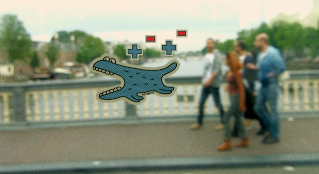Tramvayda Oynanan Artırılmış Gerçeklik Oyunu: GVBeestje