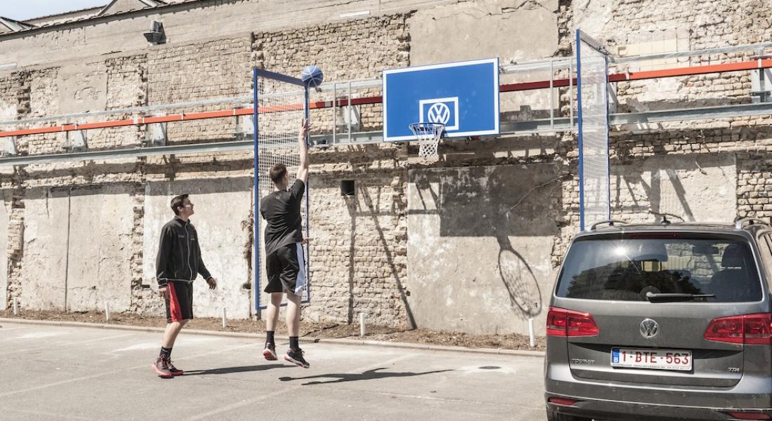 Boş Park Yerlerini Sahaya Çeviren Mobil Basketbol Potası
