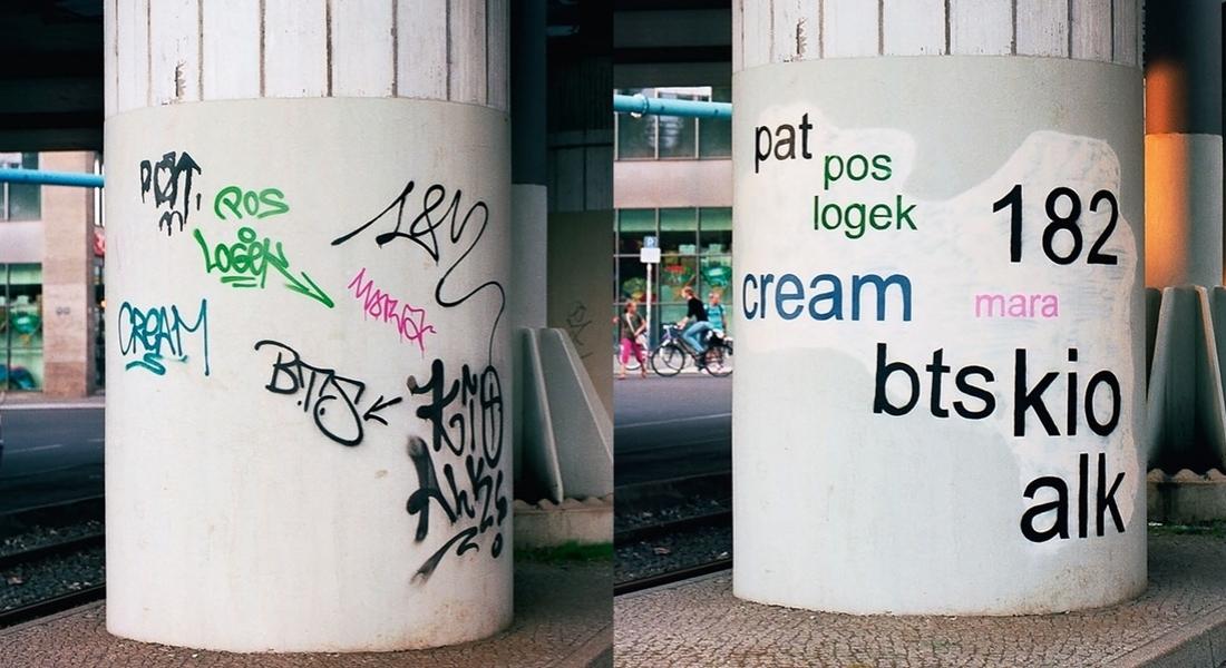 Kargacık Burgacık Graffitileri Silip Okunaklı Yazan Sokak Sanatçısı