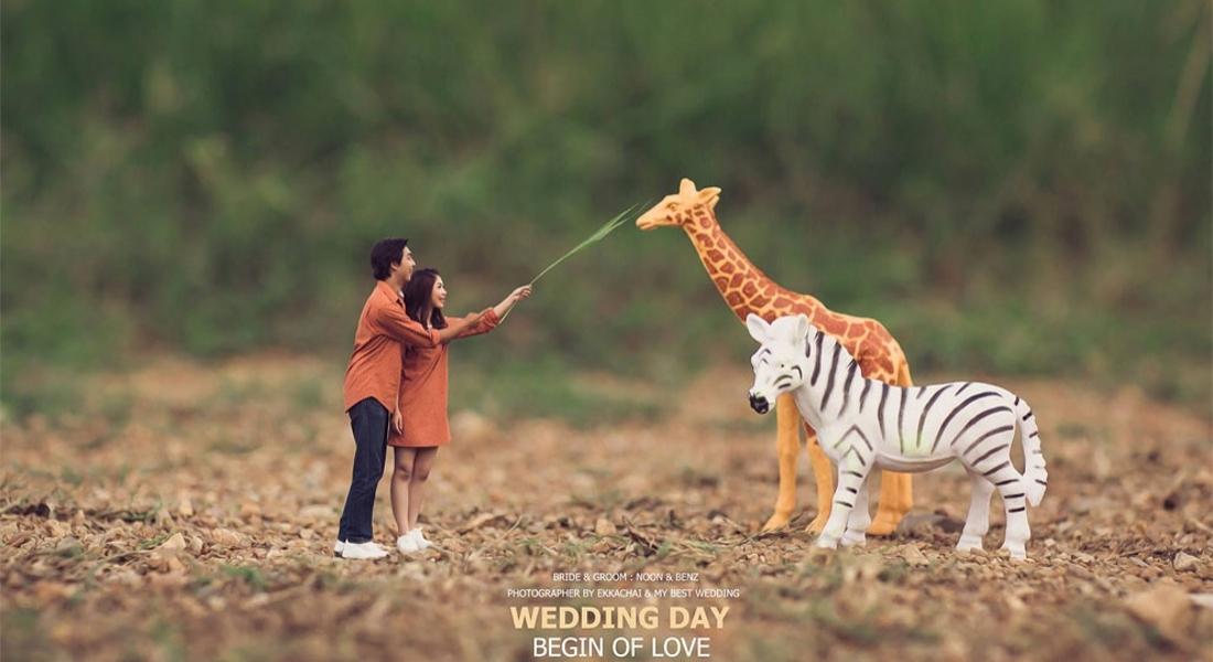 Çiftleri Minyatür Figürlere Dönüştüren Düğün Fotoğrafçısı