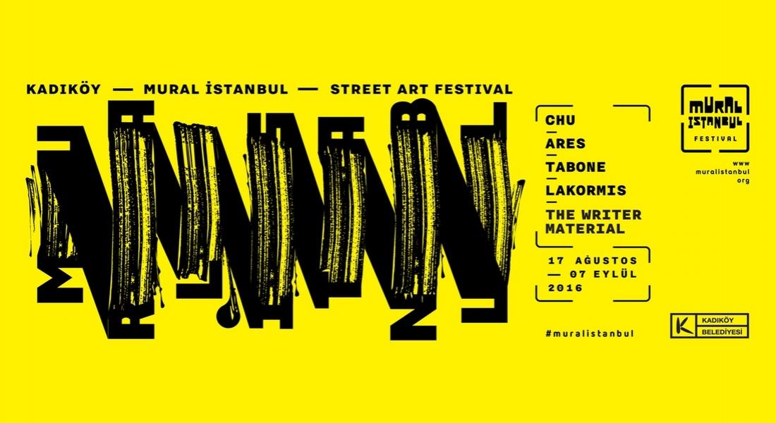 Sokaklara Renk Getiren Festival Mural İstanbul'un 2016 Takvimi Açıklandı