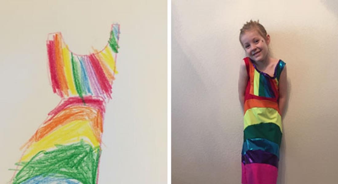 Çocukların Çizimleri Elbiselere Dönüşüyor