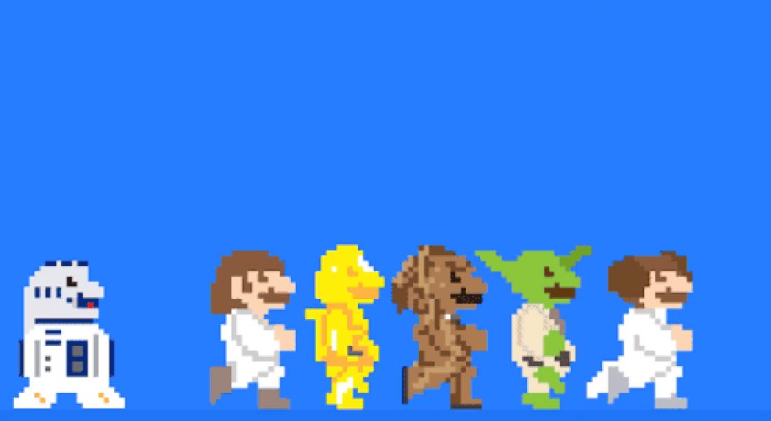 Super Mario GIF'lerine Dönüşen Pop Kültürü İkonları