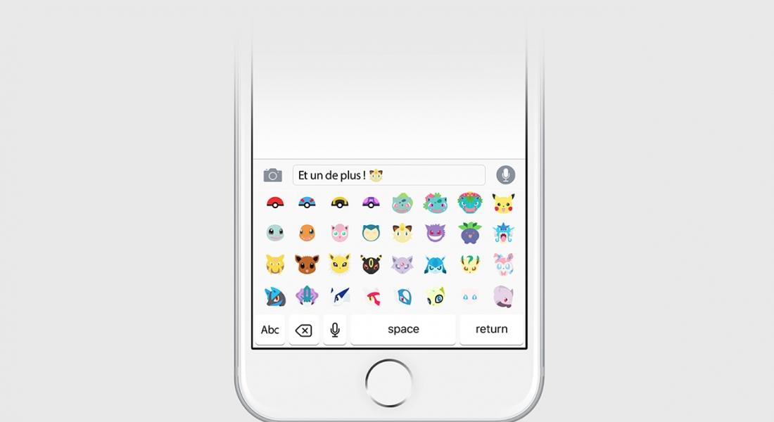 Pokémonlar Akıllı Telefon Klavyesinde