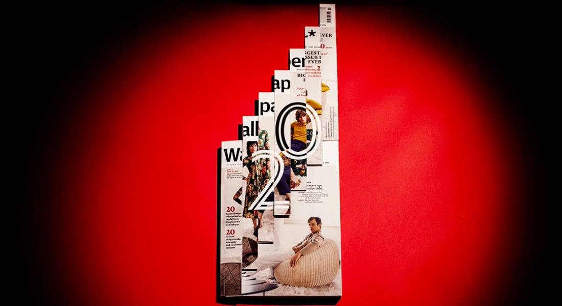 Wallpaper Dergisi 20. Yılı İçin Kinetik Kapak Tasarladı