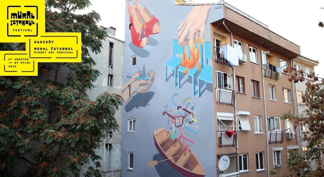 Gün İçinde İlham Aldığı Detayları Resmeden Lakormis'in Yeni Çalışması [Mural İstanbul 2016]