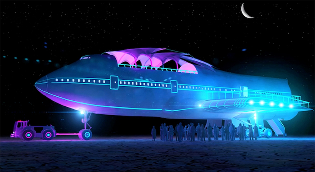 Boeing 747, Burning Man için Sanat Aracına Dönüştü