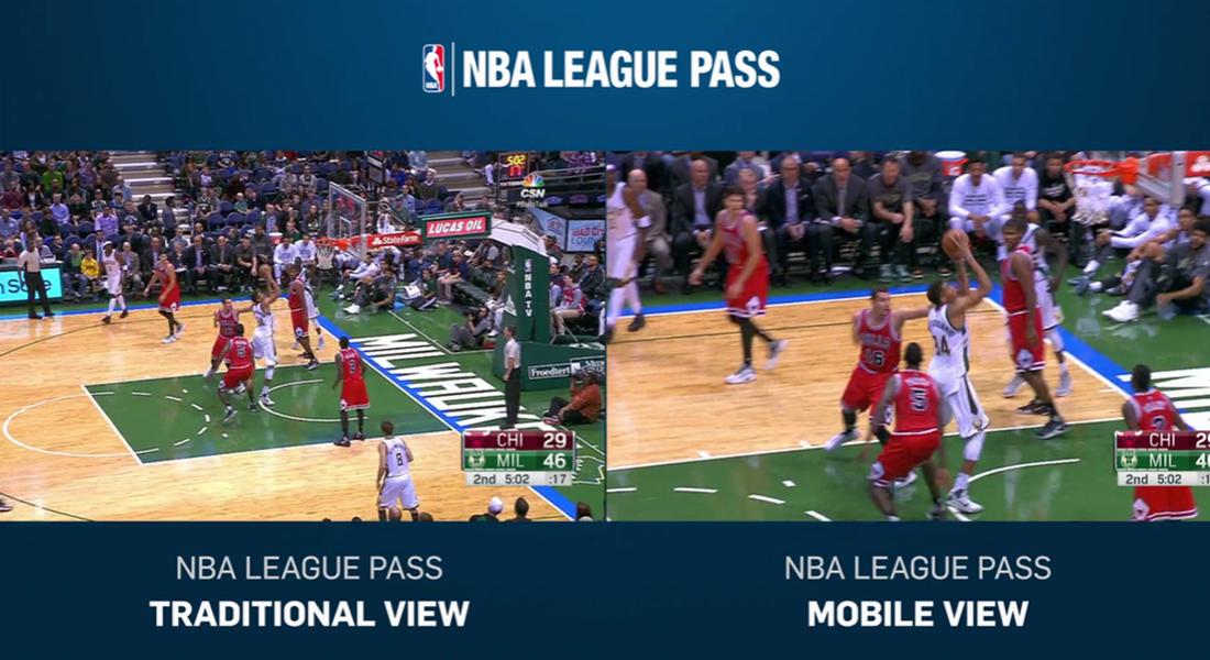 NBA'den Maçları Mobilden İzlemek için Özel Yayın Formatı