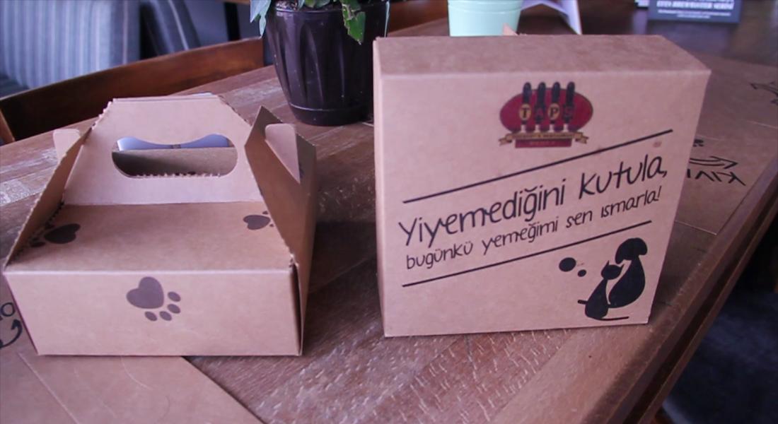 Taps Bebek'ten Yemek Artıklarını Sokak Hayvanlarına Ulaştıran Katlanır Servis Tasarımı