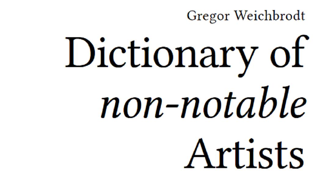 Wikipedia Tarafından Kayda Değer Bulunmayan Sanatçıları Anlatan Sözlük