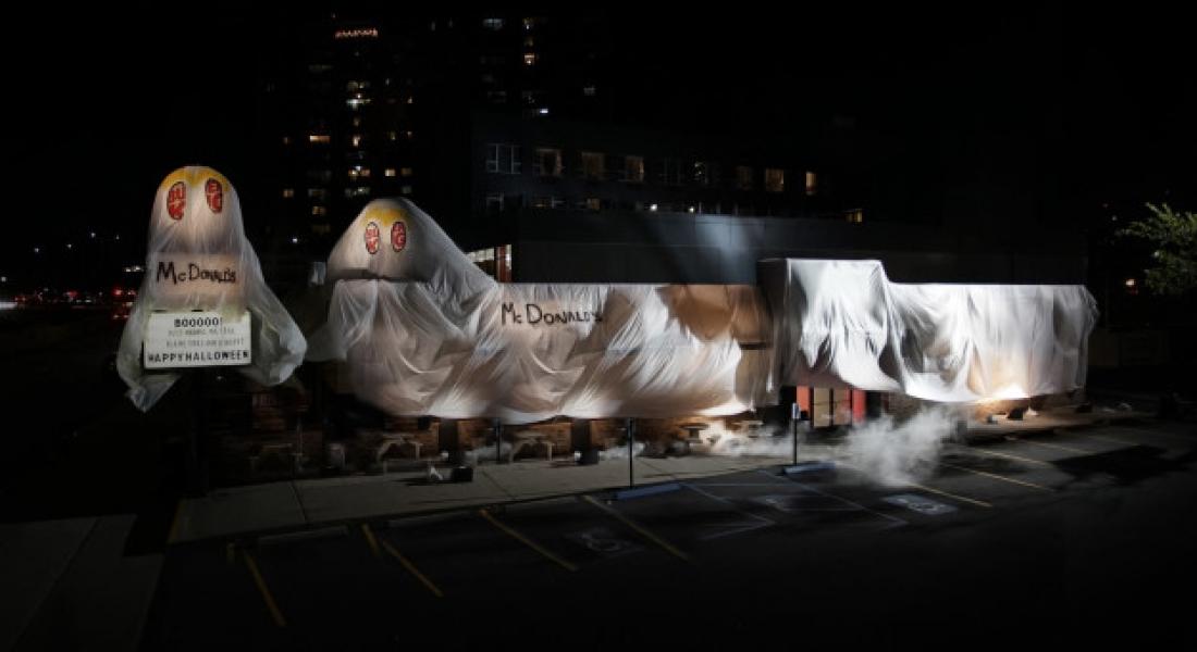 Burger King Cadılar Bayramı İçin McDonald's Hayaleti Kılığına Büründü