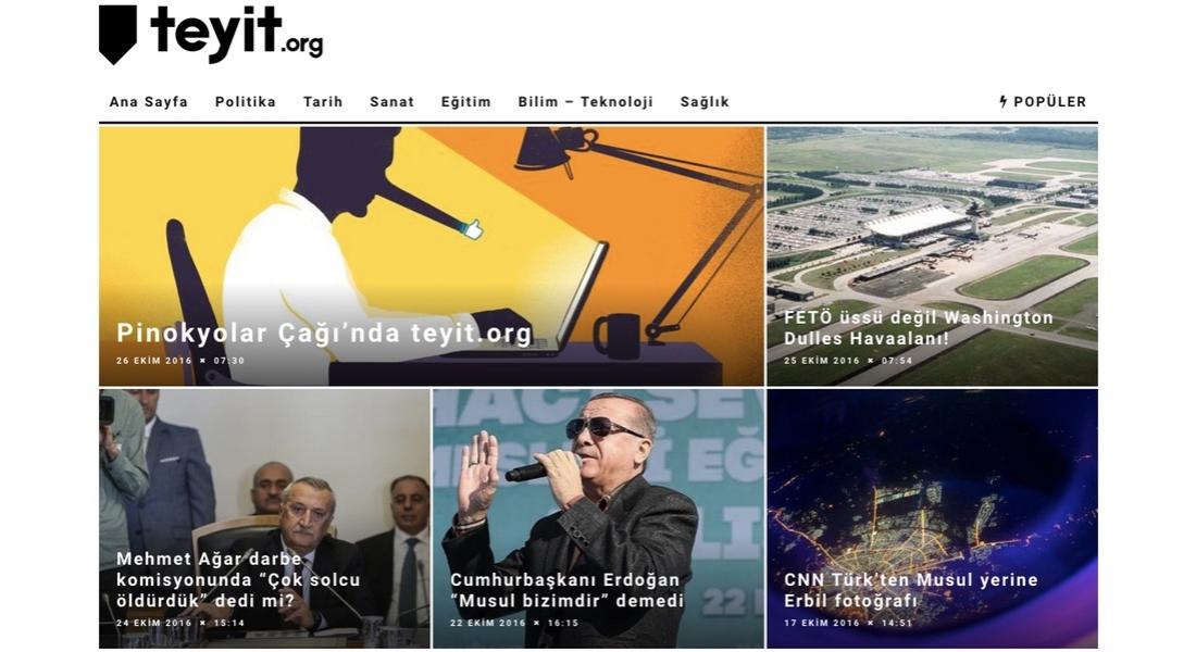 İnternetteki Şüpheli Bilgileri İnceleyen Doğrulama Platformu: teyit.org